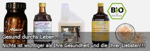 Reico Vital Humanprodukte Almin, Levisaft, Basmin, Regasaft und Kristallsalz