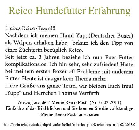 Reico-Hundefutter-Erfahrungsbericht